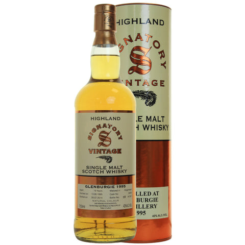 Glenburgie Hogshead 19 yrs Highland 86 Proof Signatory Single Malt Scotch Whisky | De Wine Spot - Curated Whiskey, Small-Batch Wines and Sakes
