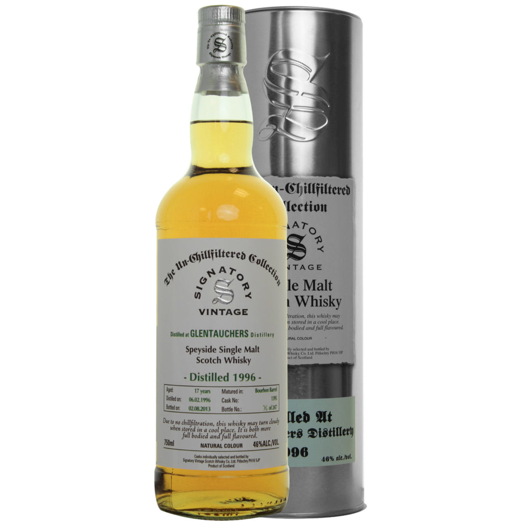 Glentauchers 17 yrs Speyside Unchillfiltered Signatory Single Malt Scotch Whisky - De Wine Spot | Curated Whiskey, Small-Batch Wines and Sakes
