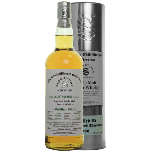 Glentauchers 17 yrs Speyside Unchillfiltered Signatory Single Malt Scotch Whisky | De Wine Spot - Curated Whiskey, Small-Batch Wines and Sakes