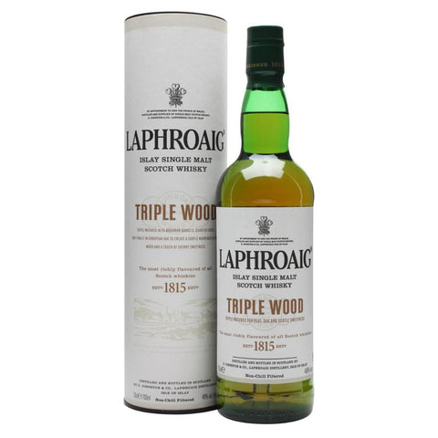 Laphroaig Triple Wood Islay Single Malt Scotch Whisky - De Wine Spot | Curated Whiskey, Small-Batch Wines and Sakes