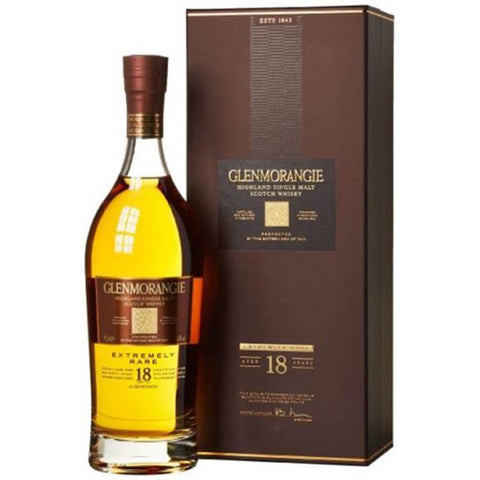 Glenmorangie 18 Year Old Extremely Rare Highland Single Malt Scotch Whisky - De Wine Spot | Curated Whiskey, Small-Batch Wines and Sakes