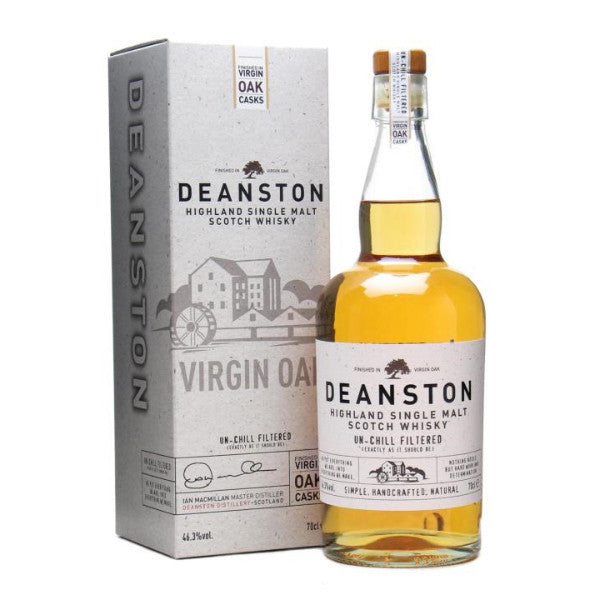 Deanston Virgin Oak Highland Single Malt Scotch Whiskey | De Wine Spot - Curated Whiskey, Small-Batch Wines and Sakes