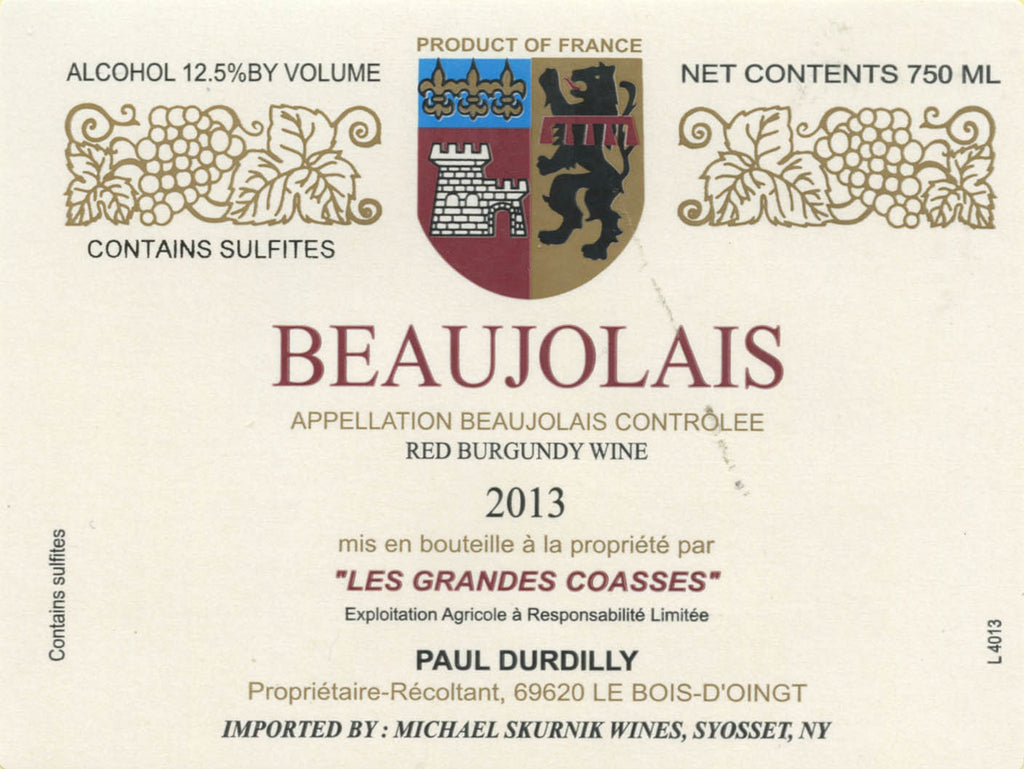 Paul Durdilly Beaujolais Nouveau - De Wine Spot | Curated Whiskey, Small-Batch Wines and Sakes
