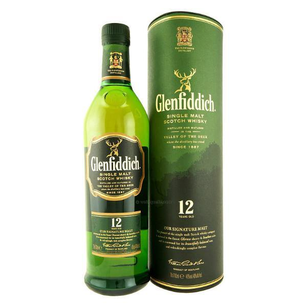 Glenfiddich 12 Year Old Single Malt Scotch Whisky - De Wine Spot | Curated Whiskey, Small-Batch Wines and Sake Collection