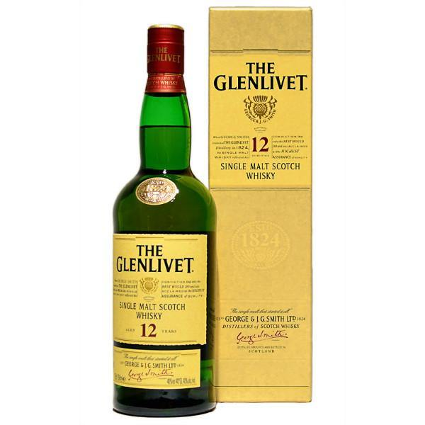 Glenlivet 12 Year Single Malt Scotch Whisky - De Wine Spot | Curated Whiskey, Small-Batch Wines and Sakes