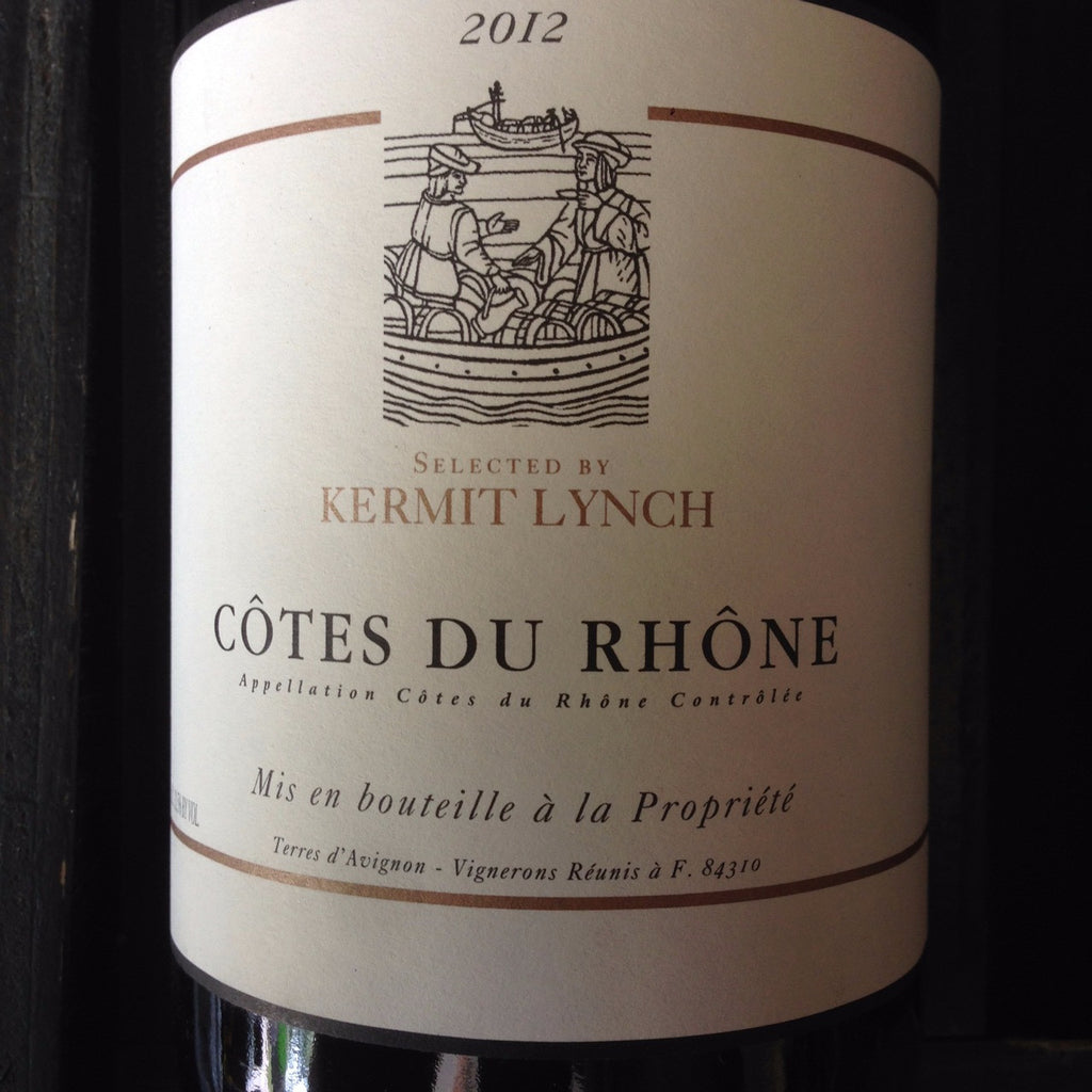 Kermit Lynch Cotes du Rhone Rouge - De Wine Spot | Curated Whiskey, Small-Batch Wines and Sakes
