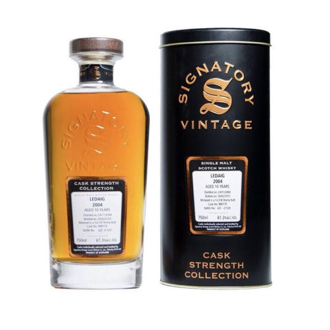 Ledaig 10 yrs Island Cask Strength Signatory Single Malt Scotch Whisky - De Wine Spot | Curated Whiskey, Small-Batch Wines and Sakes