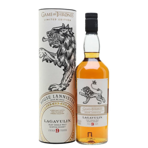 "Game Of Thrones ""House Lannister"" Lagavulin 9-Year-Old Islay Single Malt Scotch Whisky"