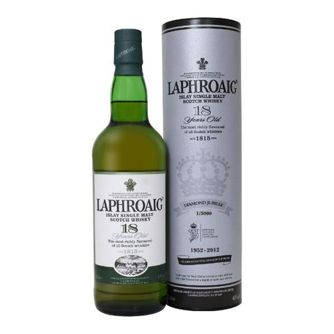Laphroaig 18 Year Old Scotch Whisky - De Wine Spot | Curated Whiskey, Small-Batch Wines and Sakes