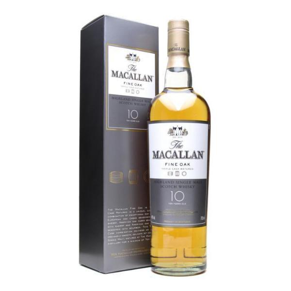 Macallan 10 Year Old Fine Oak Single Malt Scotch Whisky - De Wine Spot | Curated Whiskey, Small-Batch Wines and Sakes