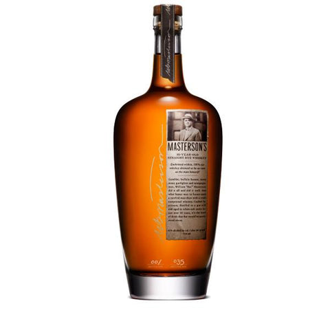 Masterson's 10 Year Old Straight Rye Whiskey | De Wine Spot - Curated Whiskey, Small-Batch Wines and Sakes
