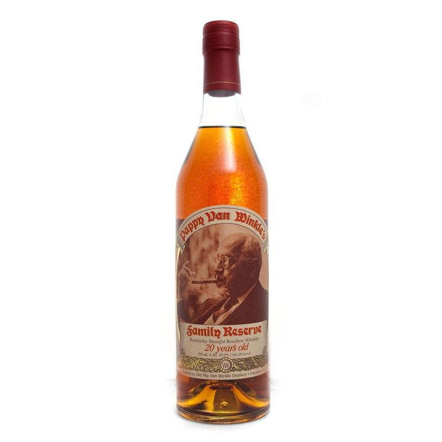 Old Rip Van Winkle Bourbon Family Reserve 20 Year Old Pappy Van Winkle - De Wine Spot | Curated Whiskey, Small-Batch Wines and Sake Collection