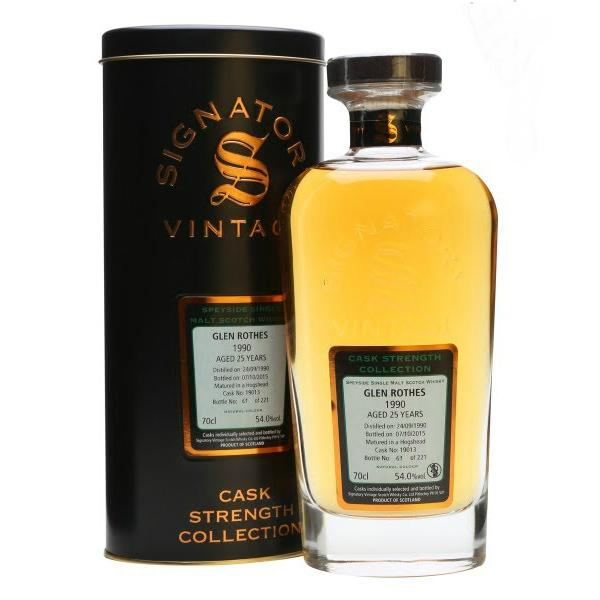 Glen Rothes 20 yrs Speyside Cask Strength Signatory Single Malt Scotch Whisky - De Wine Spot | Curated Whiskey, Small-Batch Wines and Sakes