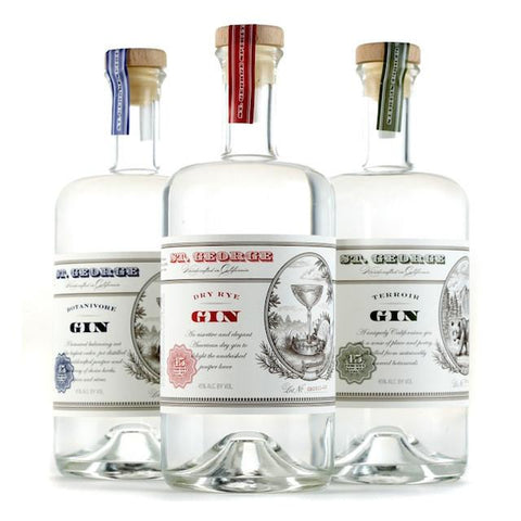 St. George Gin Combo Pack | De Wine Spot - Curated Whiskey, Small-Batch Wines and Sakes