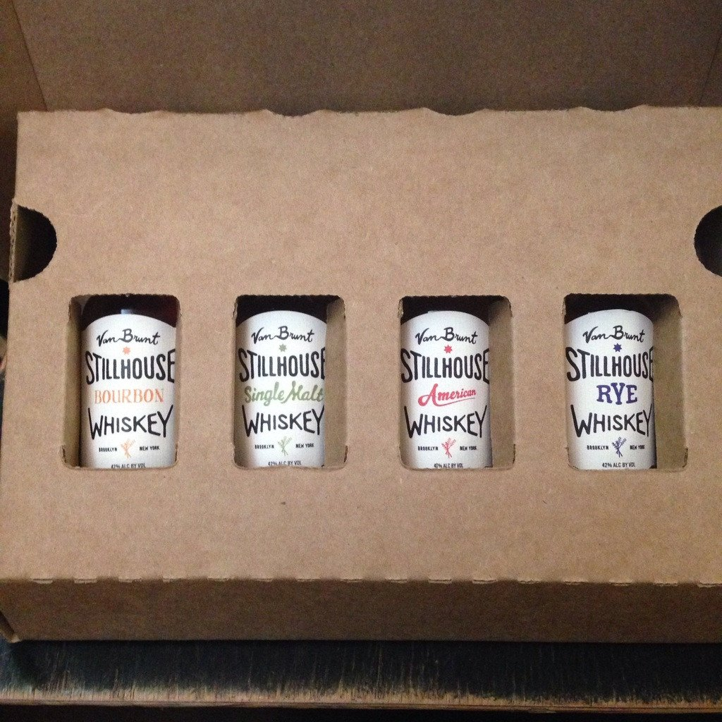 Van Brunt Stillhouse Whiskey 4 Pack 50ml Gift Set - De Wine Spot | Curated Whiskey, Small-Batch Wines and Sakes