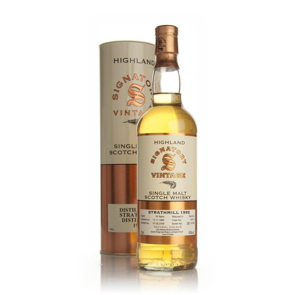 Strathmill Hogshead 16 yrs Highland 86 Proof Signatory Single Malt Scotch Whisky | De Wine Spot - Curated Whiskey, Small-Batch Wines and Sakes