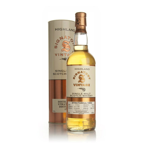 Strathmill Hogshead 16 yrs Highland 86 Proof Signatory Single Malt Scotch Whisky - De Wine Spot | Curated Whiskey, Small-Batch Wines and Sakes