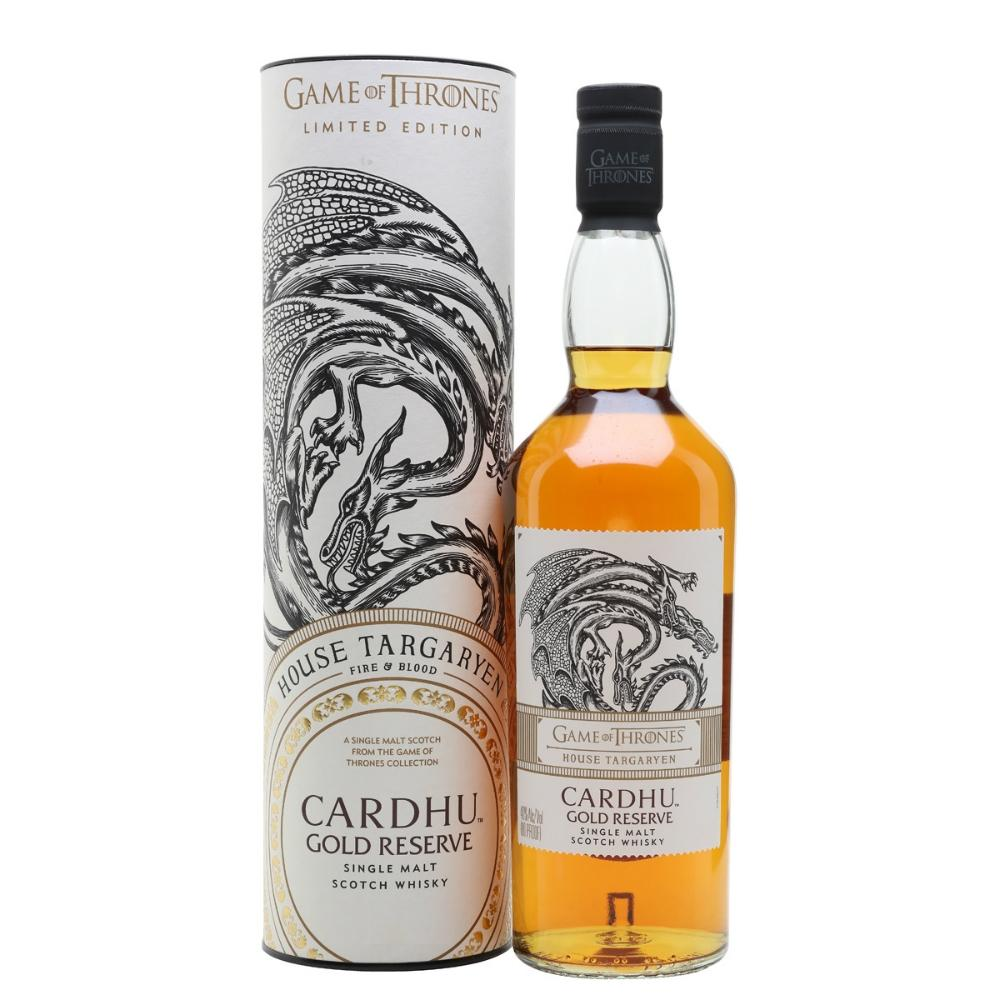 "Game of Thrones ""House Targaryen"" Cardhu Gold Reserve Single Malt Scotch Whisky"