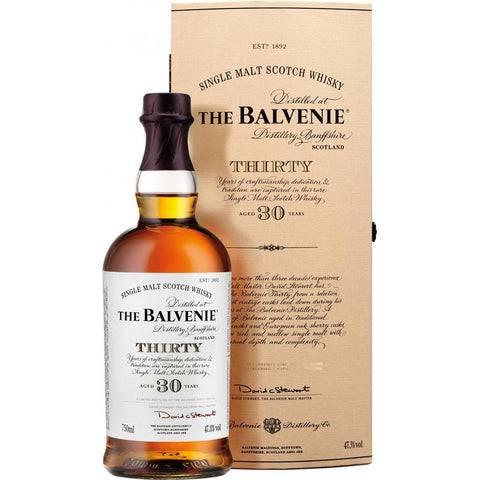 Balvenie 30 Year Single Malt Scotch Whisky | De Wine Spot - Curated Whiskey, Small-Batch Wines and Sakes