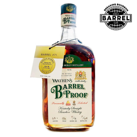 "Wathen's Barrel Proof Breaking Bourbon ""Sweet & Funky"" Pick"