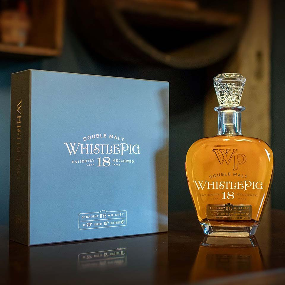 WhistlePig Double Malt 18 Year Old Straight Rye Whiskey