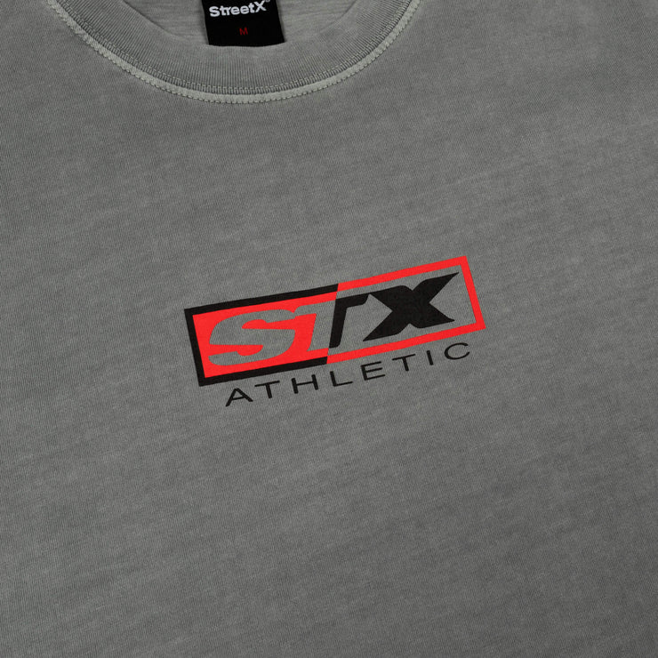 90s athletic box logo vintage tee