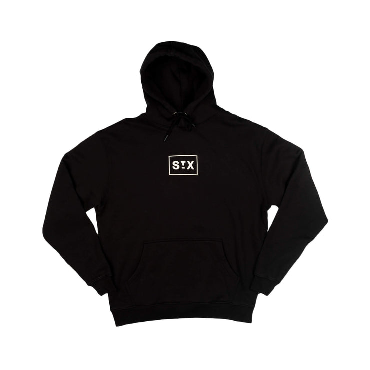 Puff box logo hooded fleece