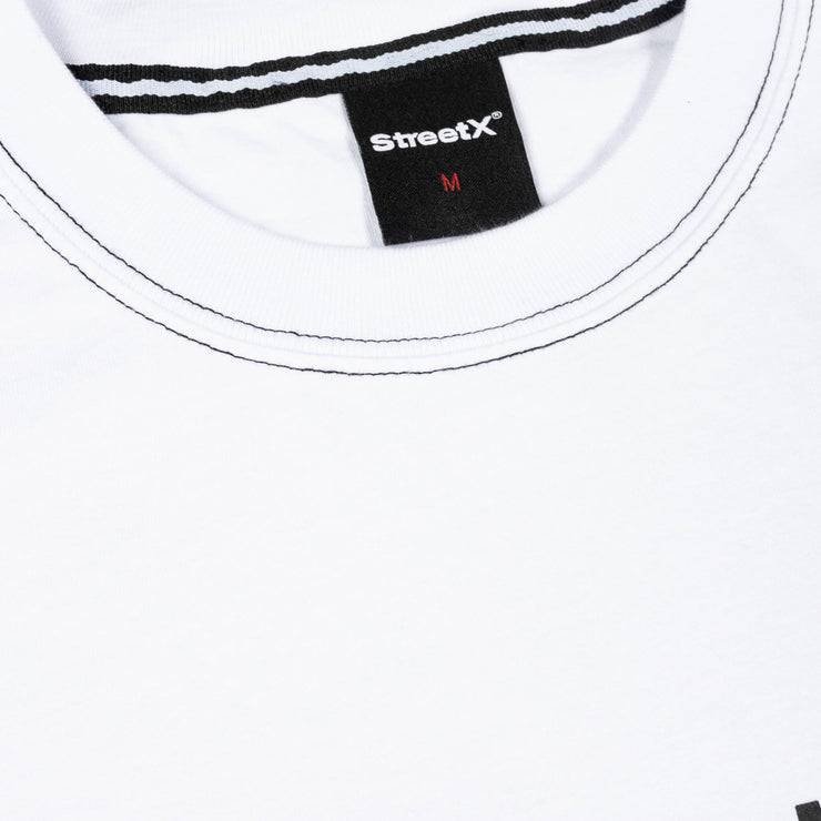 CONTRAST STITCH WORDMARK TEE
