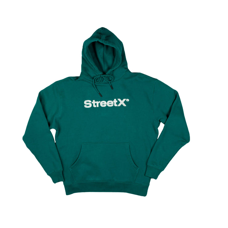 Grass Wordmark Hooded Fleece