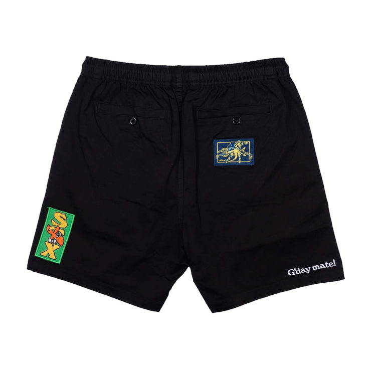 holiday patch shorts