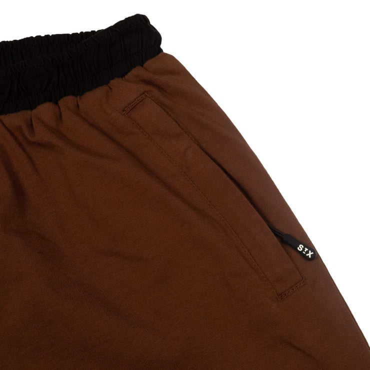cotton jersey panel shorts