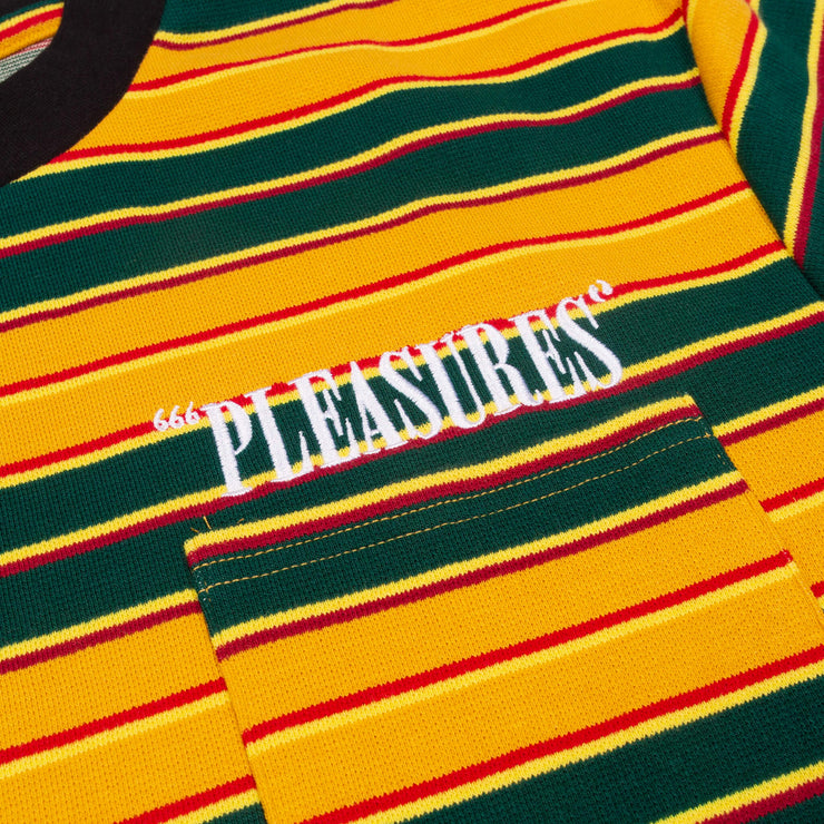 pleasures chainsmoke stripe tee