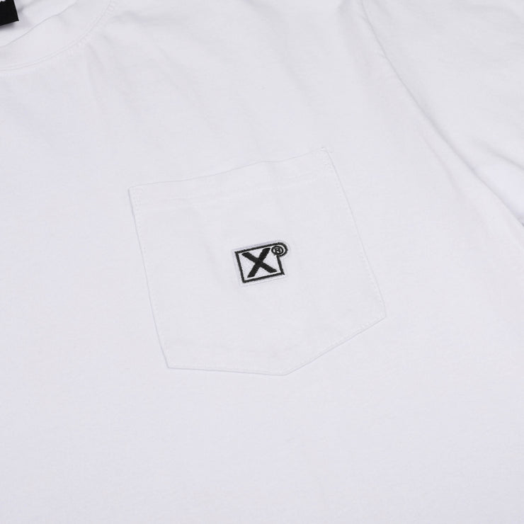 X badge pocket tee