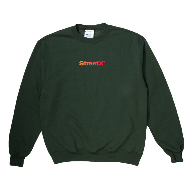 Orange Rubber Wordmark Crewneck