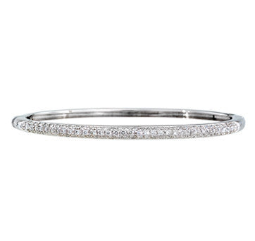 18K White Gold Diamond Pave Bangle