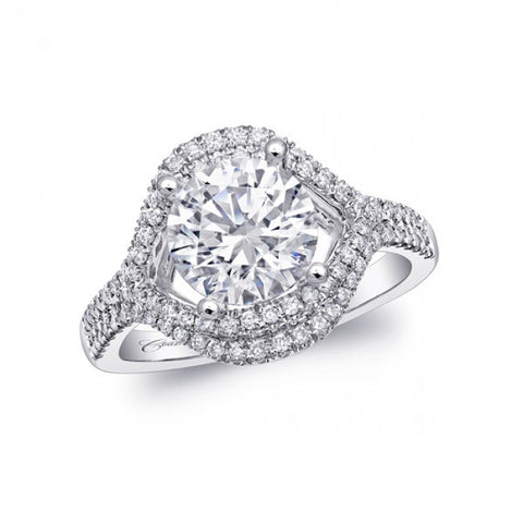 Coast Diamond Platinum Marquise Halo Ring