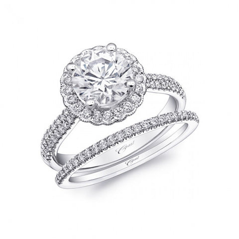 Coast Diamond Round Floral Halo Ring