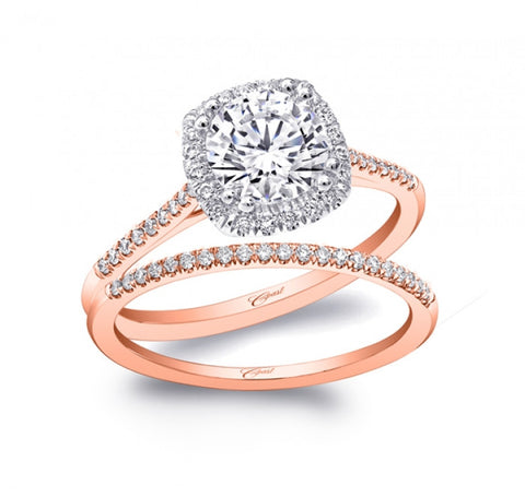 Coast Diamond Rose Gold Halo Ring