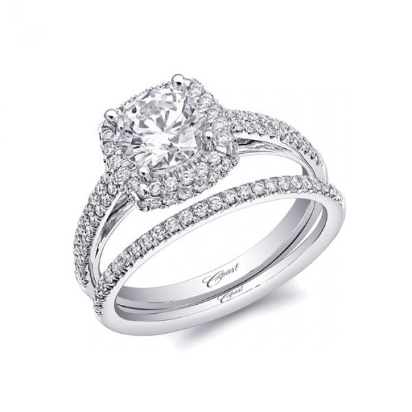 Coast Diamond Cushion Halo Ring