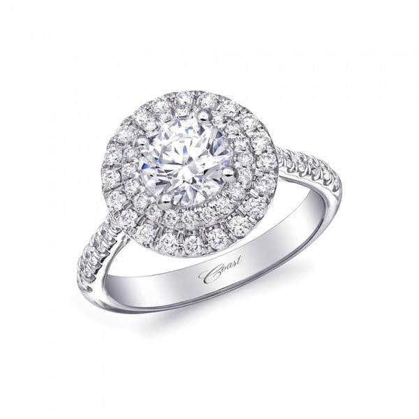 Coast Diamond Platinum Diamond Halo Ring