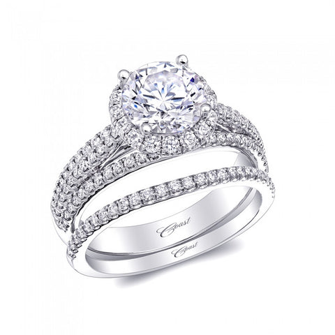 Coast Diamond Round Halo Ring