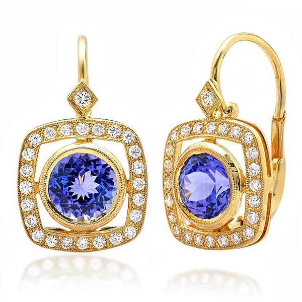 Beverley K Tanzanite and Diamond Earrings