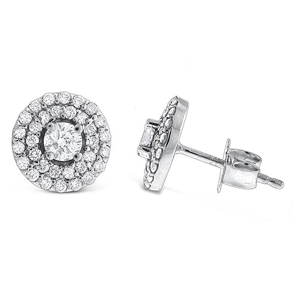 Diamond Stud Double Halo