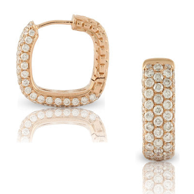 18kr Diamond Pave Earring