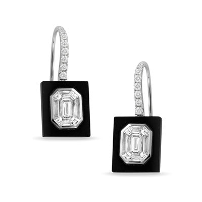 Diamond & Black Onyx Earrings