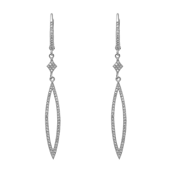 Diamond Pave Drop Earrings