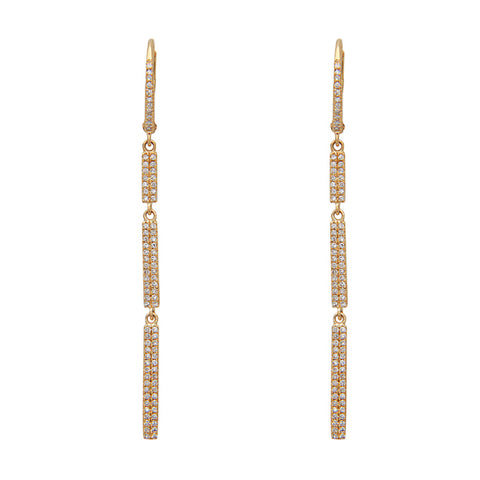 Diamond Pave Bar Earrings