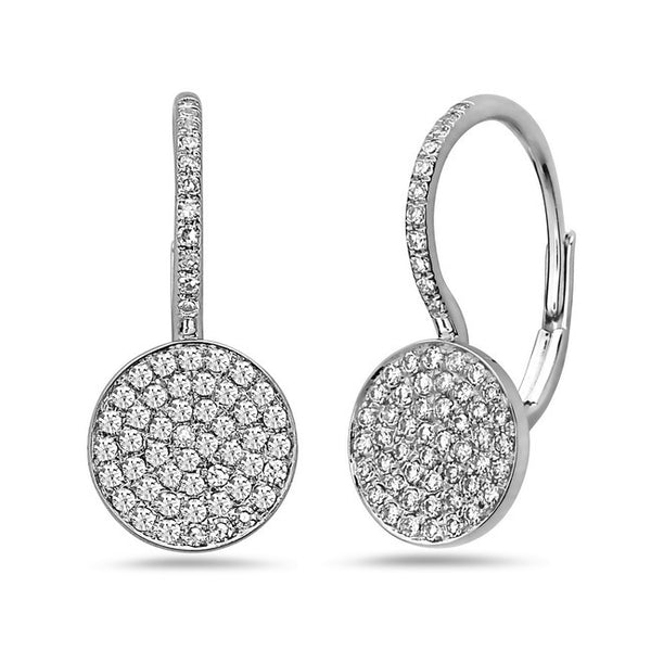 Bassali Pave Diamond Earrings