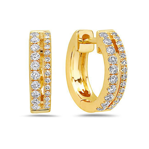 Diamond Mini Hoop Earrings