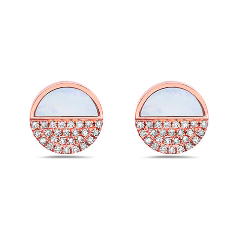 Diamond & Mother of Pearl Studs